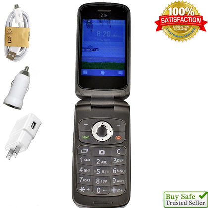 TracFone ZTE Cymbal 4G LTE (Z232TL) - Flip Phone 🌟 Fast Ship 🌟