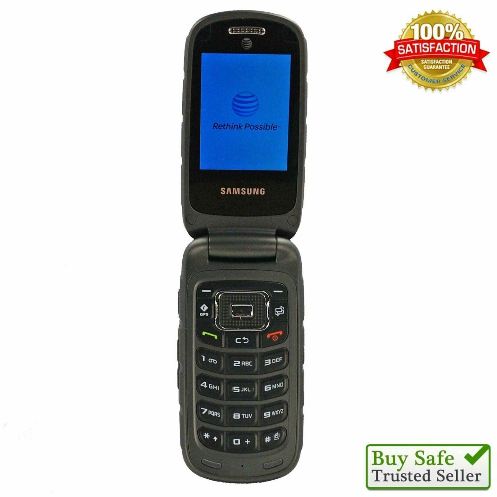 Samsung Rugby III SGH-A997 (AT&T) Cell Phone GSM 2G/3G Speeds Straight Talk