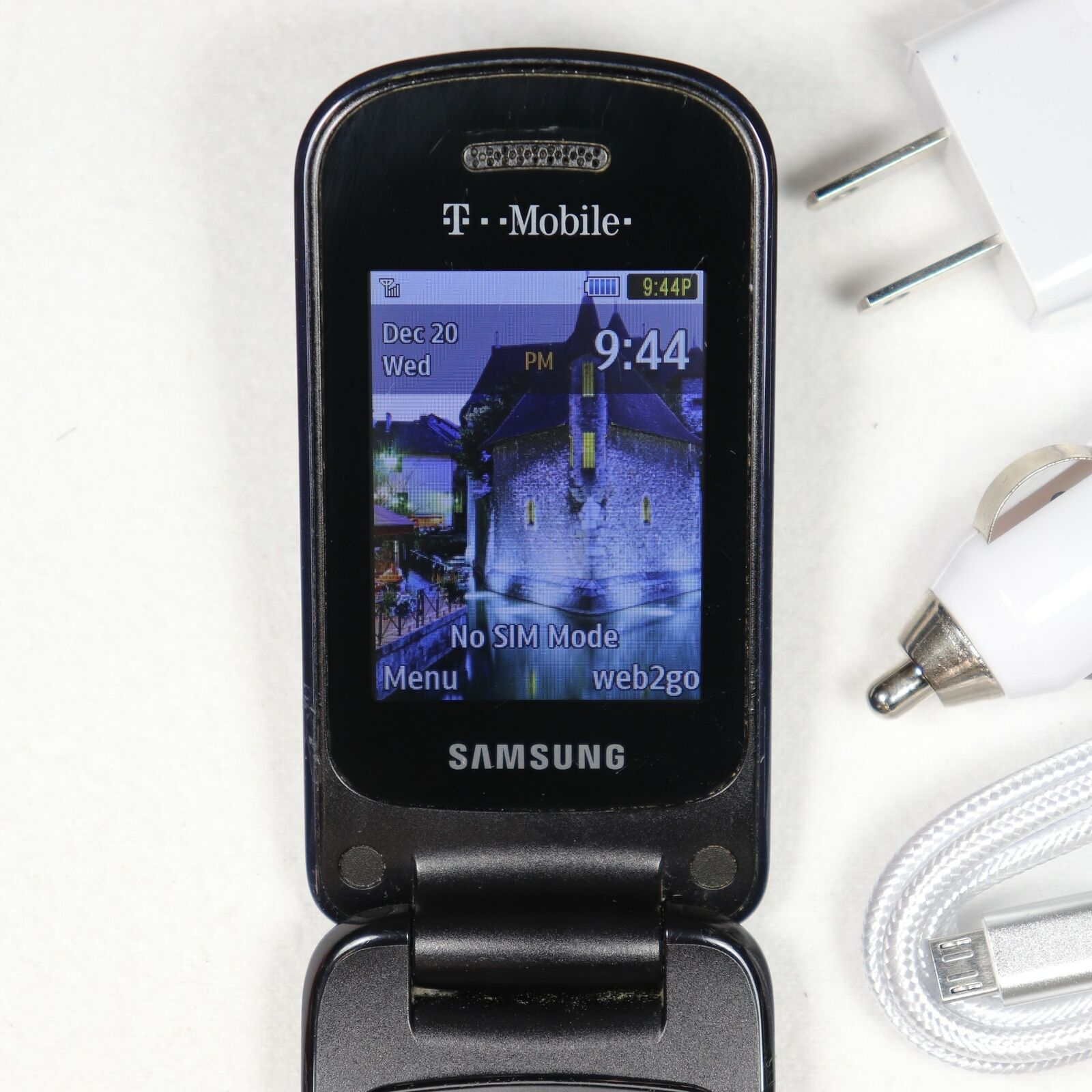 Samsung SGH-T259 (T-Mobile) Flip Phone 3G GSM - Blue - 🌟 Fast Ship 🌟 EXCELLENT
