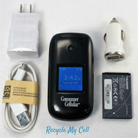 Senior Friendly Consumer Cellular Huawei Envoy U3900 Flip Phone - 3G Speed -