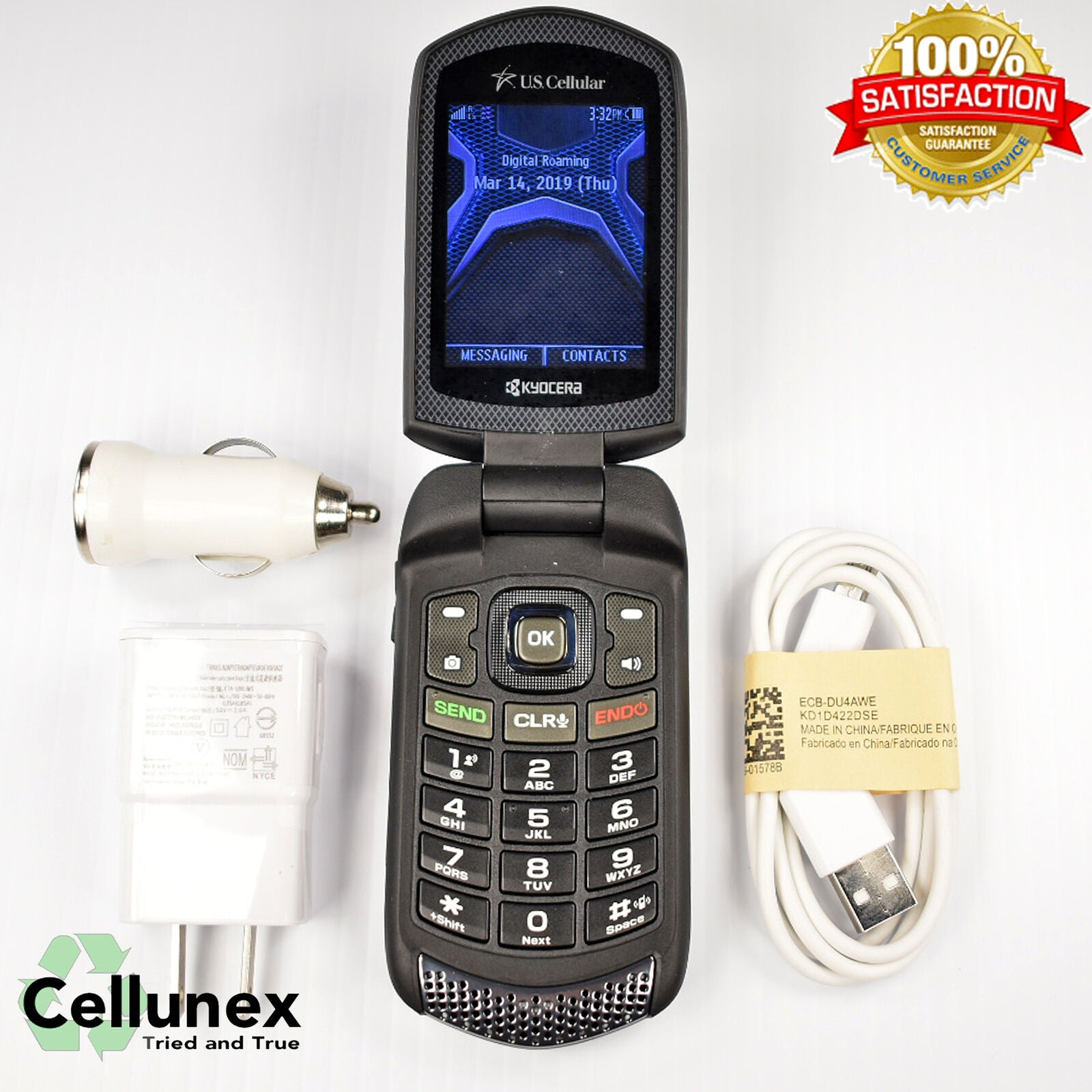 Kyocera E4510 DuraXA (nTelos) Rugged Flip Phone - High Speed 3G CDMA