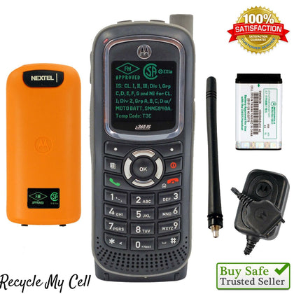 Motorola i365is (Unlocked) Rugged Phone iDen iConnect Nextel Intrinsically safe