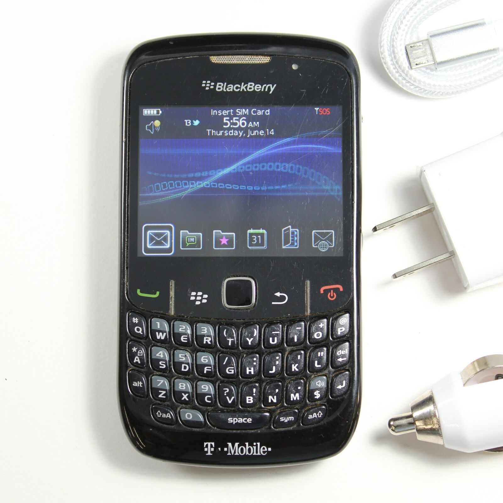 Blackberry Curve 8520 (T-Mobile) QWERTY Phone - GPS, WIFI DATA, 2MP Camera