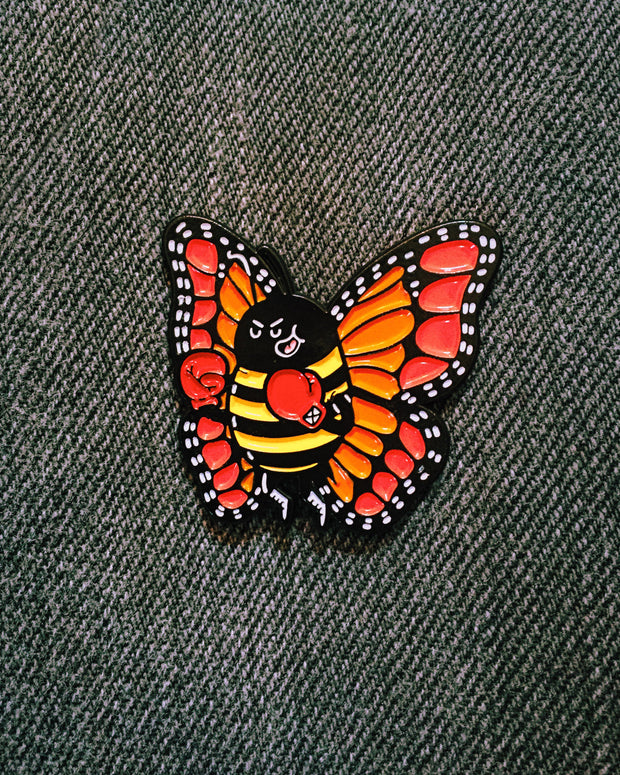 Float like a butterfly, sting like a bee ENAMEL PIN