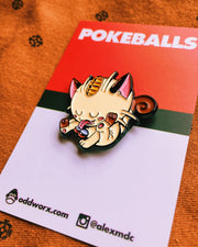 Pokeballs Meowth enamel Pin