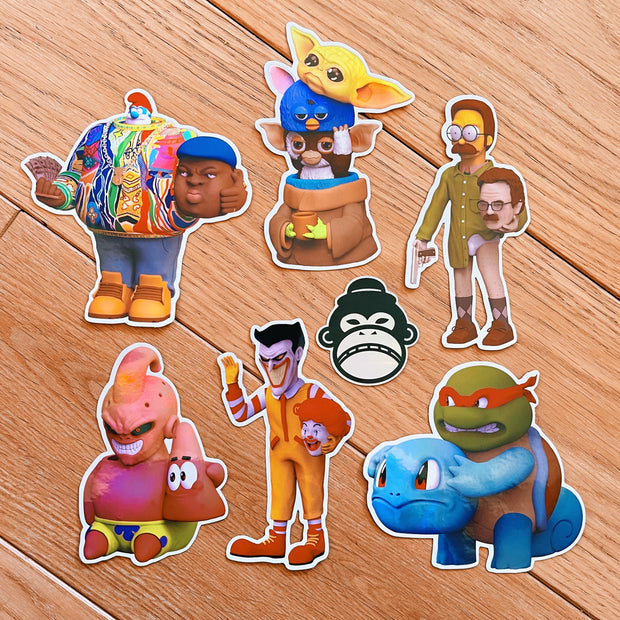 Icons Unmasked 3D HOLOGRAPHIC Sticker Set