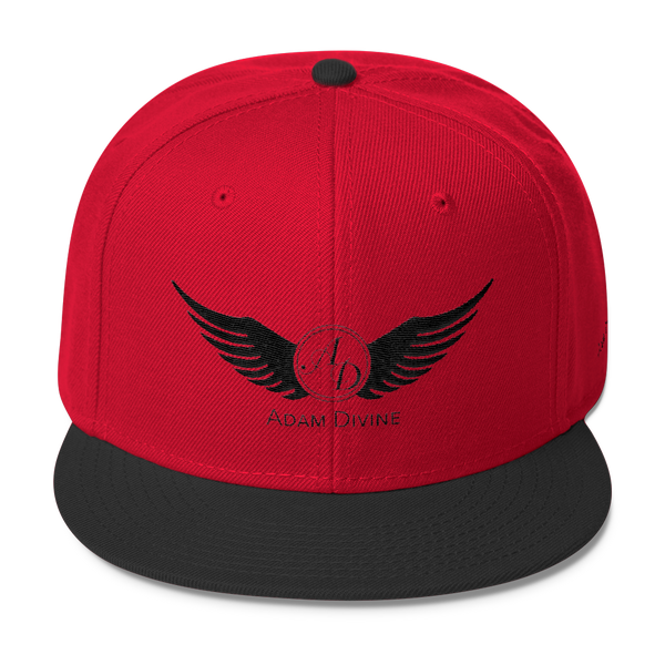 4abedecc94f Black   Red AD snapback – Adam Divine Clothing