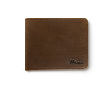 Genuine Leather Slim Mens Bifold Wallet with RFID Blocking (Coffee/Brown)