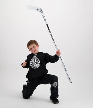 Modehockey White Battlemode hockey stick for kids