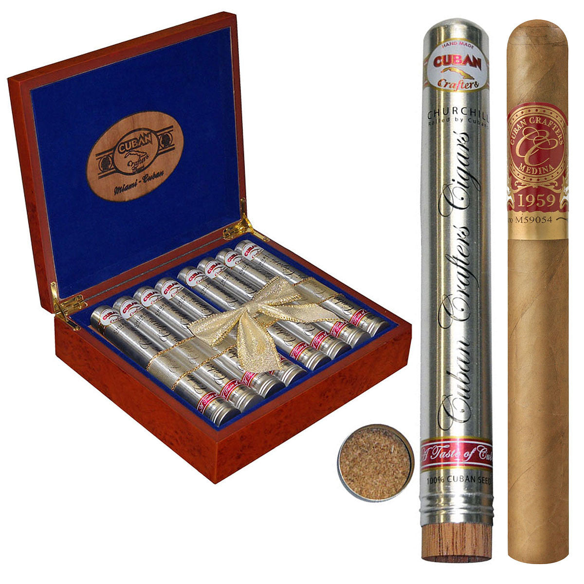 Medina 1959 Miami Edition Churchill Tube Humidor 7 X 50 Box of 16 - Cigar boulevard