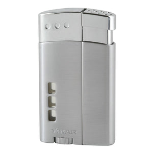 Xikar Escalade Lighter Silver Double Jet Flame