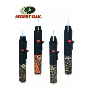 "Eagle Torch TURBO SINGLE JET 7"" Pen Torch Refillable w/Kickstand - Mossy Oak"