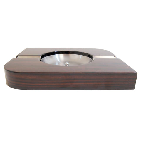 Image of Tesoro Ebony Wood Cigar Ashtray - Cigar boulevard
