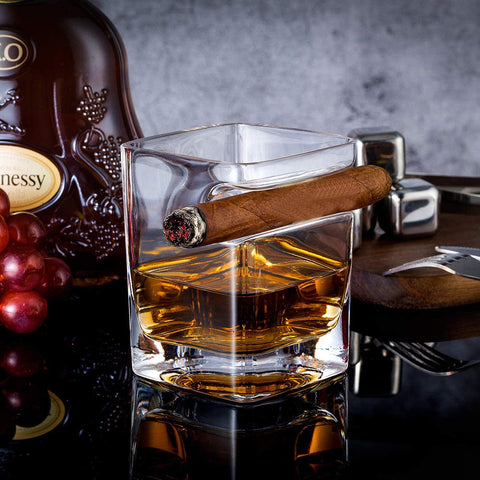 Whiskey Glass Cigar Holder