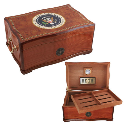 Image of COMBO WHITE HOUSE Humidor For 120, Gift Set Combo Presidente - Free Shipping
