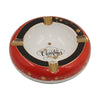 Ashtrays MERRY CHRISTMAS White Porcelain with Golden Grooves