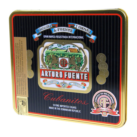 Image of Arturo Fuente Cigars Little Cubanitos 32 x 4 1/4 10 cigars - Cigar boulevard