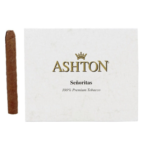 Ashton Classic SEÑORITAS 3½ X 30 Box of 10 Small Cigars