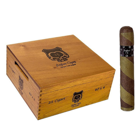 ASYLUM 13 OGRE BARBERPOLE (Box, Pack and Single Cigars)