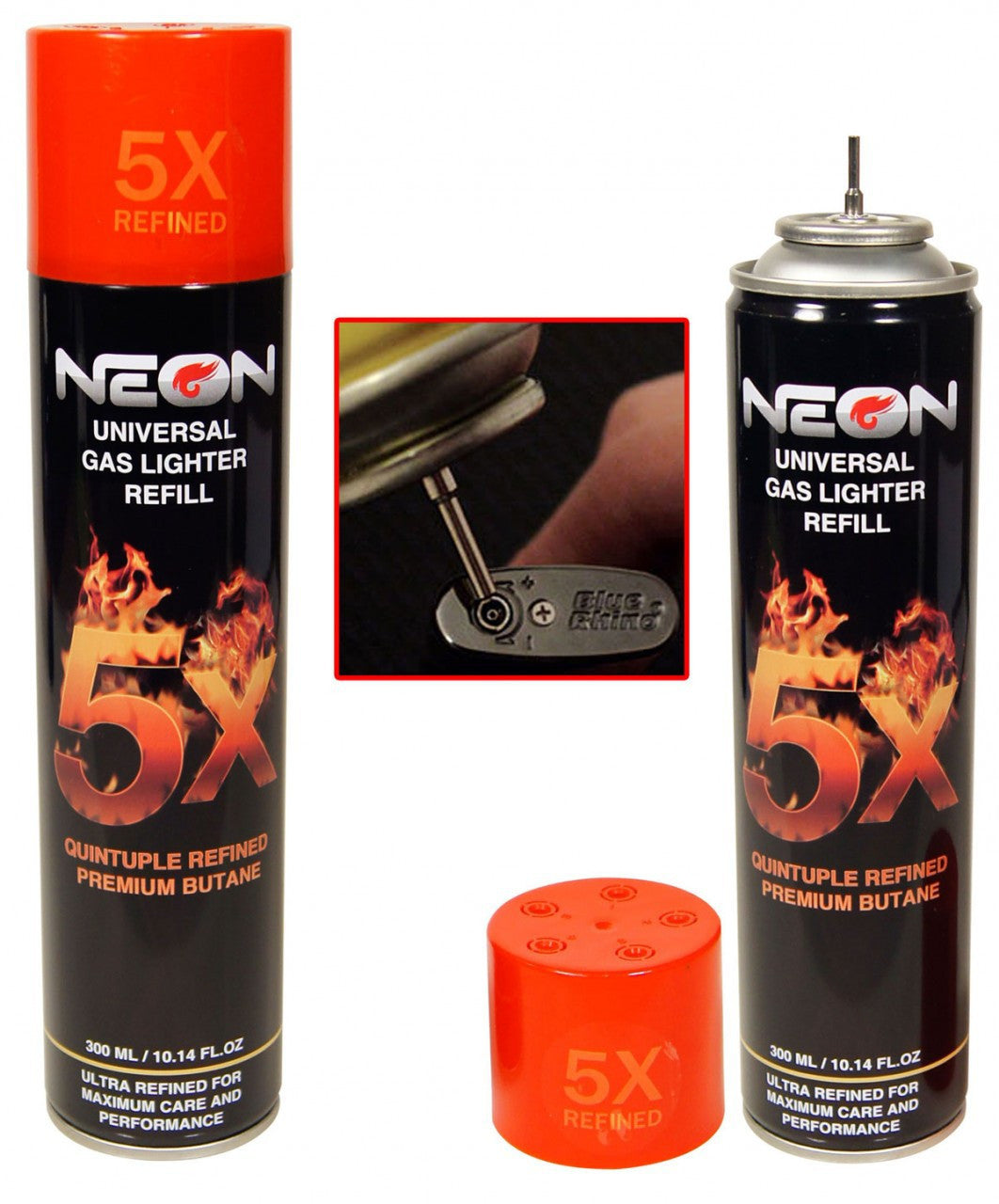 Butane Refill For Lighters Ultra 5X Refined Fuel Universal Adapters