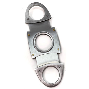 Cigar Boulevard Cigar Cutter Metal Antique Style Double Stainless Steel Blades O Handles