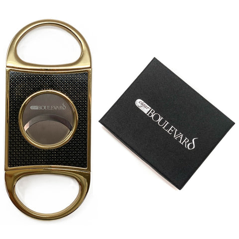 Cigar Boulevard PERFECT CIGAR CUTTER STAR Gold-Black Carbon Fiber