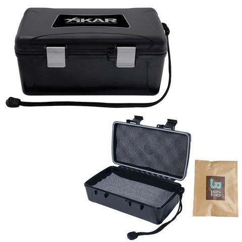 Xikar Travel Cigar Humidor - Hardcase Outside Soft Foam Interior
