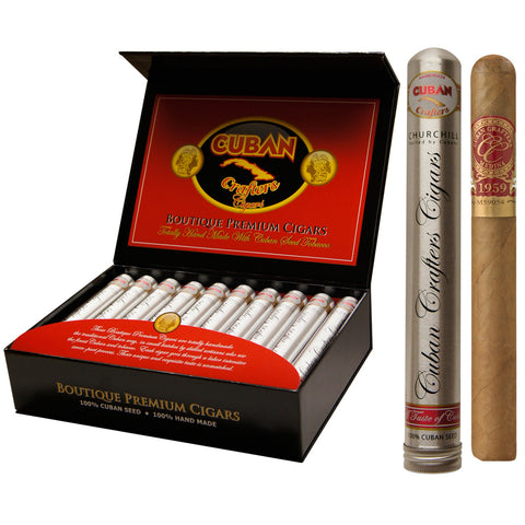 Medina 1959 Miami Edition Tubos Churchill 7 X 50 Gift Box of 20 Tubes - Cigar boulevard