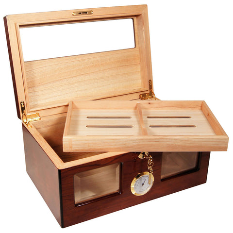 Image of Bravo Dos Rosewood Humidor for 120 Cigars - Cigar boulevard