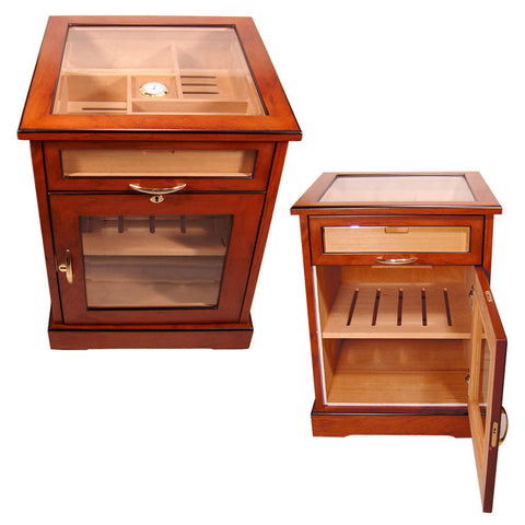 Image of Cuban Crafters Cabinet Humidors End Table Humidor for 600 Cigars Free Shipping - Cigar boulevard
