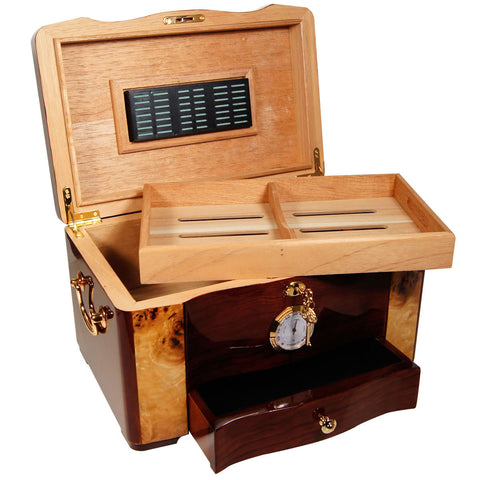 Cuban Elegance Large Cigar Humidor for 120 Cigars - Cigar boulevard