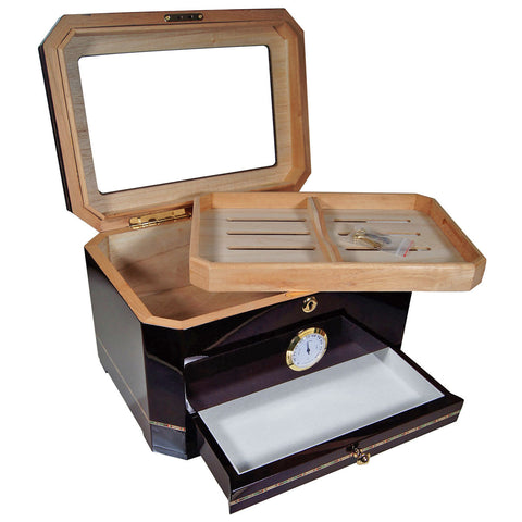 Cuban Crafters El Mirador Glass Humidor for 100 Cigars - Cigar boulevard