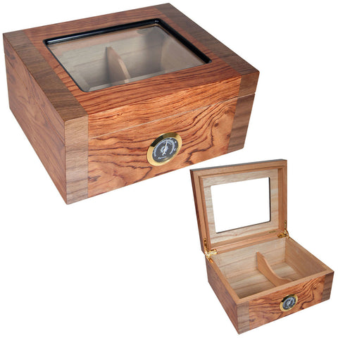 Image of (40 Cigars Humidor, 10 Salazar Series Cigars, Ashtray, 2 Humidifiers, Black Cutter) - Cigar boulevard