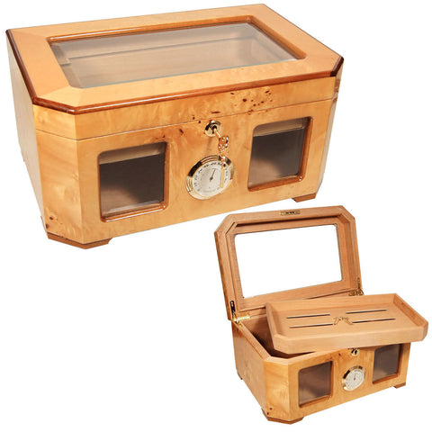 Image of Cigar Humidor Gifts Cuban Crafters Palacio Humidors for 120 Cigars - Cigar boulevard