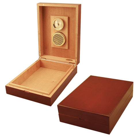 Image of Travel Humidors Cuban Crafters Cherrywood Traveler Humidor for 8 Cigars - Cigar boulevard