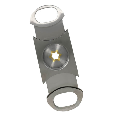 Image of Cigar Boulevard PERFECT CIGAR CUTTER STAR Stainless Steel Up to 80 Ring Gauge