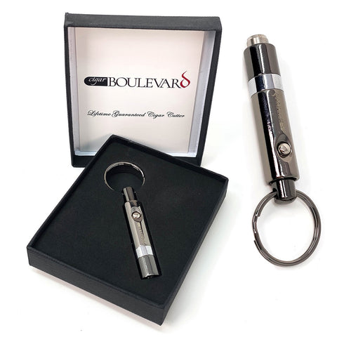 Image of Cigar Boulevard Cigar Pen Punch Cutter Gun Metal