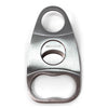 Cigar Boulevard Cigar Cutter Stainless Steel Body and Doble Blades 2 Fingers Handle Side
