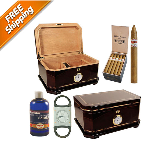 COMBO AMBASSADOR, Large Cigar Humidors Big Humidor for 150 Cigars