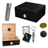 COMBO BOULEVARD DELUXE BLACK, Humidor for 40, Travel Tube & Punch Cigar Cutter)