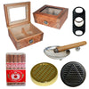 (40 Cigars Humidor, 10 Salazar Series Cigars, Ashtray, 2 Humidifiers, Black Cutter) - Cigar boulevard
