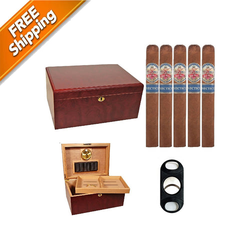 Image of COMBO QUEEN, Queen K Cigars, Clasico Humidors and Perfect Cutter Combo Queen