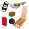 (Cigar Sampler Eden, Torch, Ashtray, Black Cutter, 2 Cigar Humidifier) - Cigar boulevard