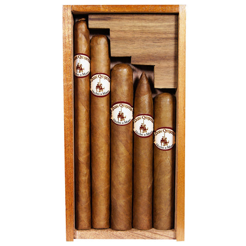 Don Quijote Sampler Cigar 5 Sizes in Cedar Gift Box - Cigar boulevard