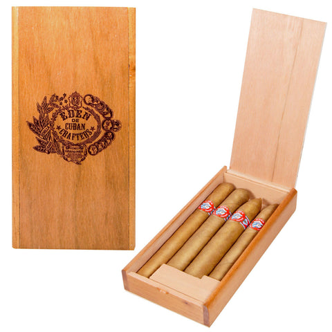 Eden Mild Cigar Sampler cigars Shade-Grown Wrapper Box of 4 Different Sizes - Cigar boulevard