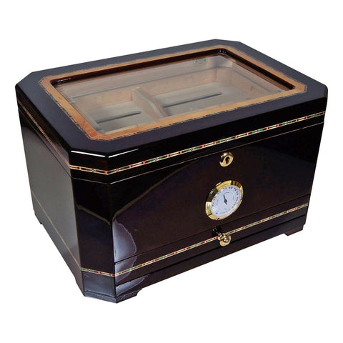Image of Cuban Crafters El Mirador Glass Humidor for 100 Cigars