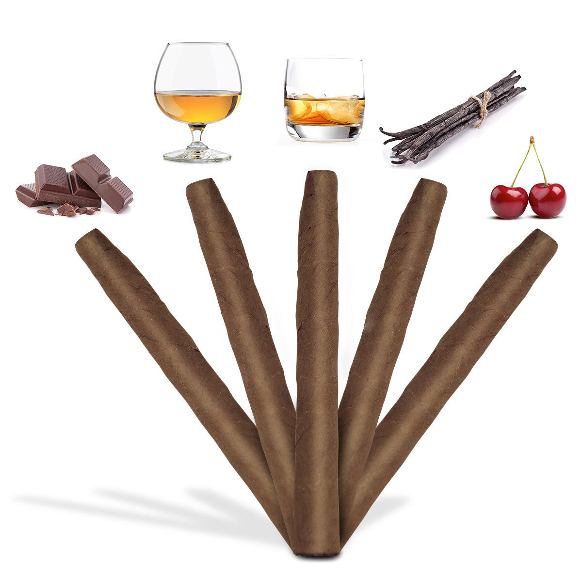 5 Cigars Sampler Flavored Mini 4 x 26 - Cigar boulevard