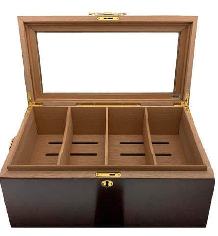 Desk/Counter Top 4 Bin Display Humidor for up to 150 Cigars