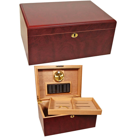 Clasico Large Cigar Humidor for 100 Cigars - Cigar boulevard