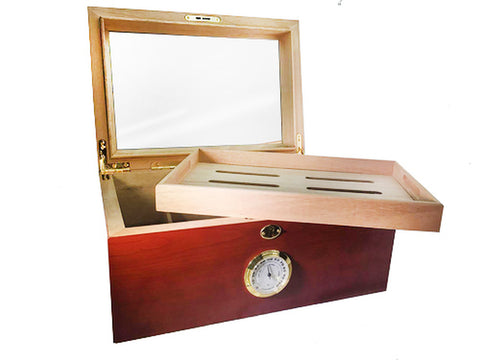 COMBO BISABUELO, Humidor for 100, 5 Miami Edition Churchill Cigars and Perfect Cutter 80 Ring